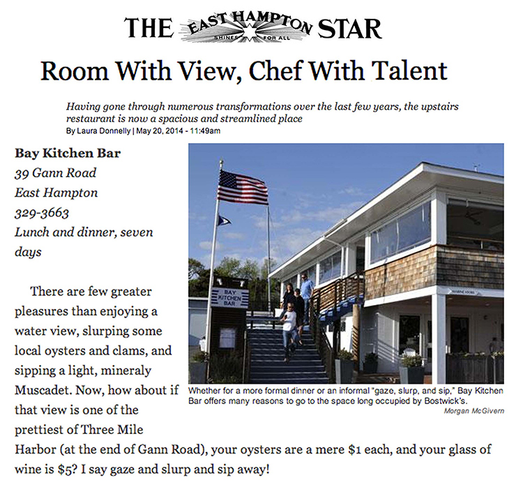 East Hampton Star interview and article May 2014