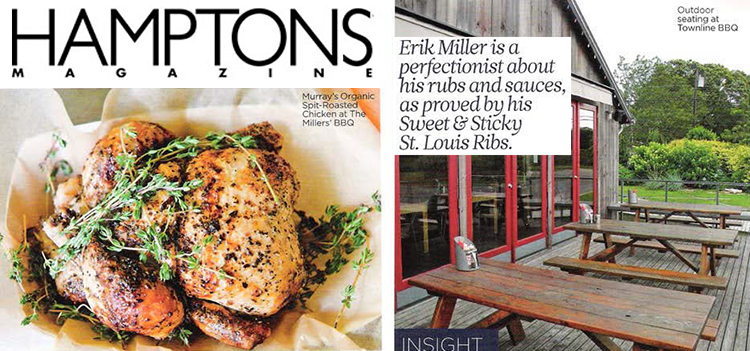 Eric Miller's BBQ featured in Hamptons Magazine